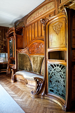 alan john ainsworth photography art nouveau design i banquette biblioth que au mineur. Black Bedroom Furniture Sets. Home Design Ideas
