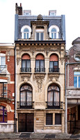 Art nouveau style houses in Lille, France
